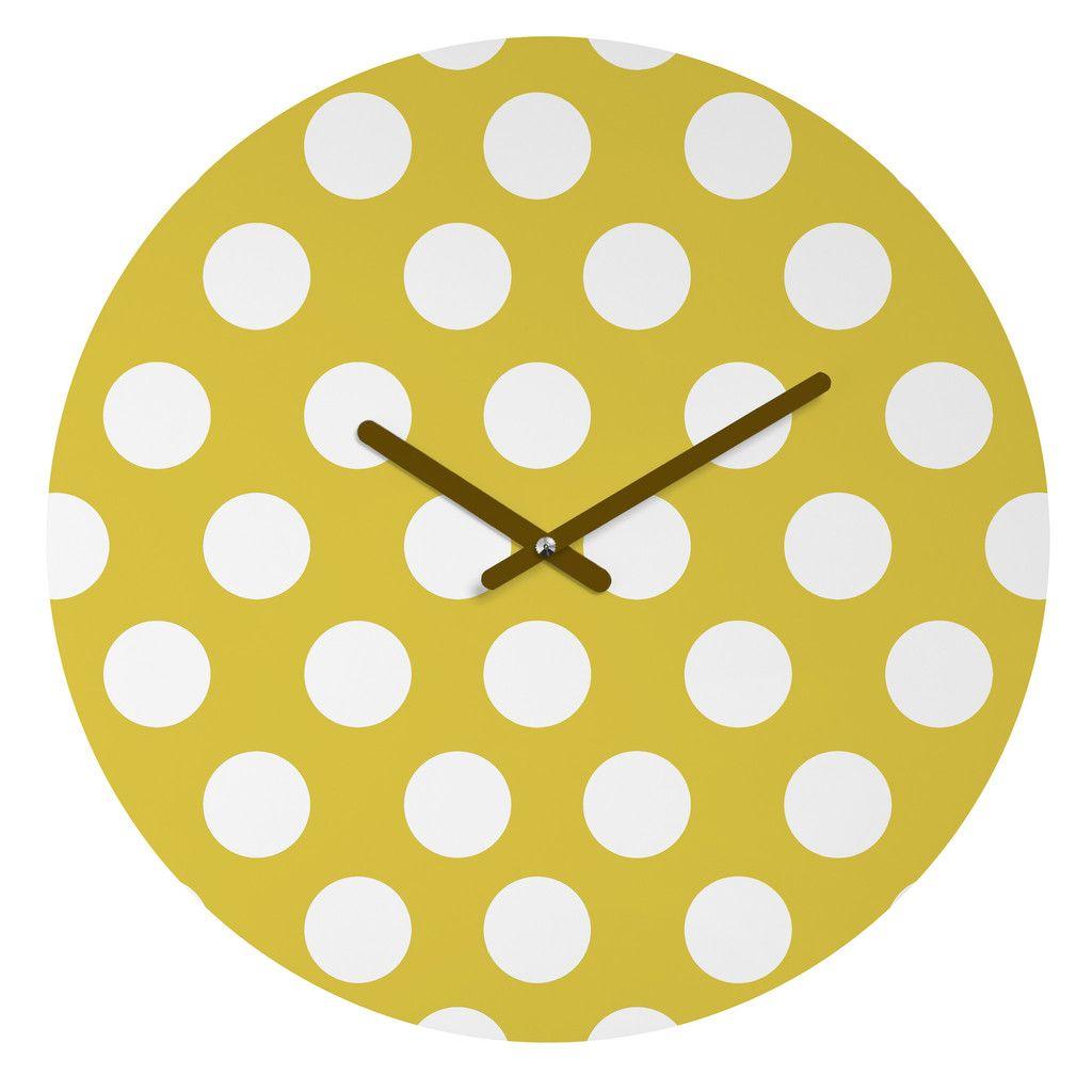 Allyson Johnson Brightest Chartreuse Round Clock | DENY Designs Home Accessories