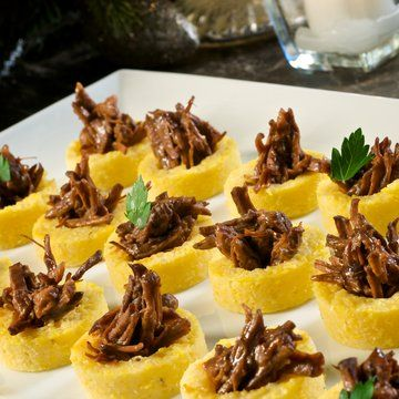 Polenta cups with braised beef in recipes on the food channel polenta cups with braised beef in recipes on the food channel forumfinder Images