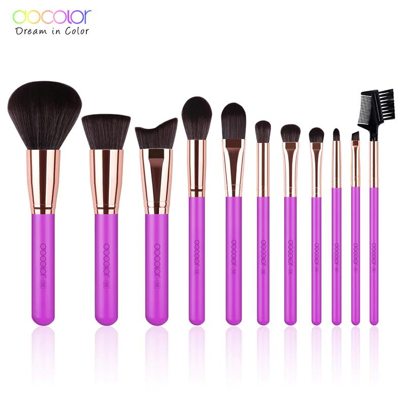 Docolor 15PCS Makeup Brushes Set Foundation Powder