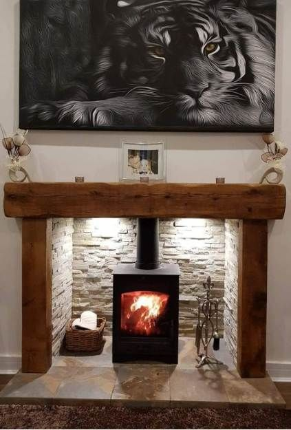 65 ideas living room country fireplace log burner for