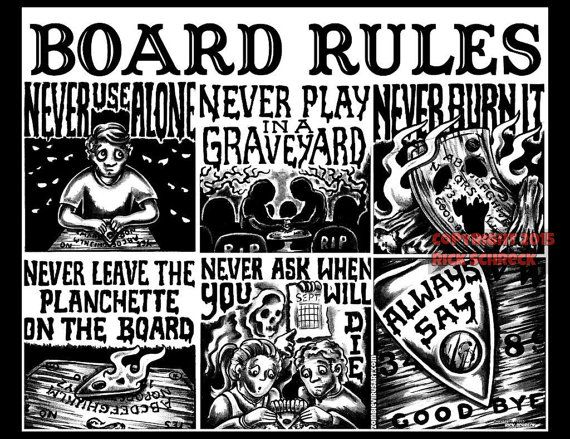 Ouija Board Rules shirt | omg ouija boards | Ouija, Witch