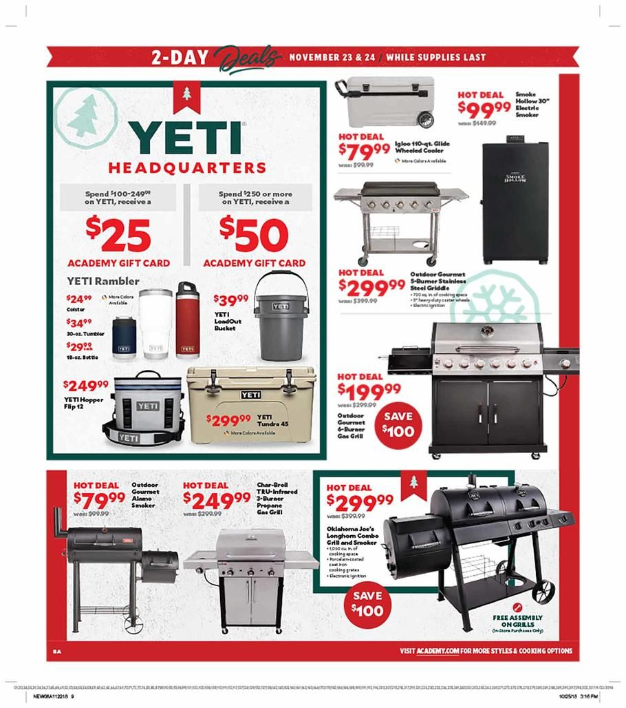 Academy Sports Black Friday 2018 Ads Scan, Deals and Sales