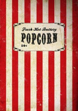 affiche de film pop corn poster vintage affiche carnaval affiche de cirque art mural. Black Bedroom Furniture Sets. Home Design Ideas