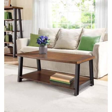 Better Homes And Gardens Mercer Coffee Table Vintage Oak Walmart Com With Images Coffee Table Home Decor Wooden Living Room