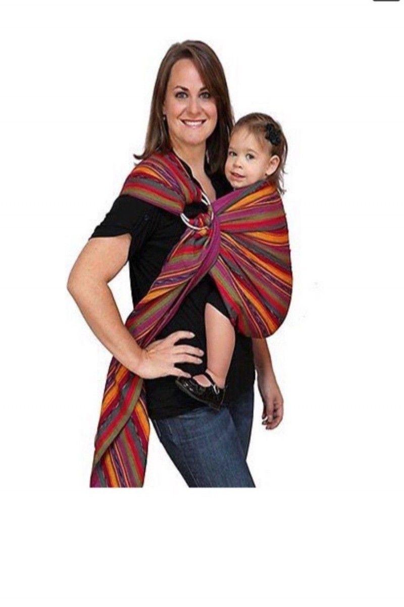 ff80ef90028 Maya wrap baby ring sling size small bright stripes boho jpg 800x1200  Hippie baby sling