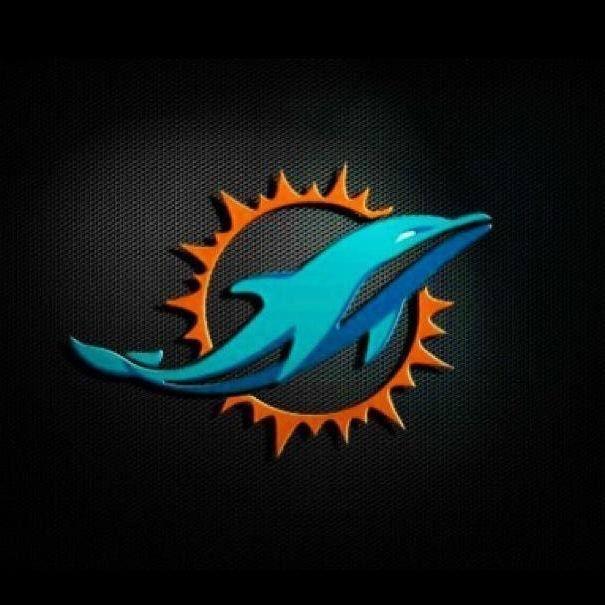 Escudo con fondo negro Miami Dolphins Logo 1872ce00820