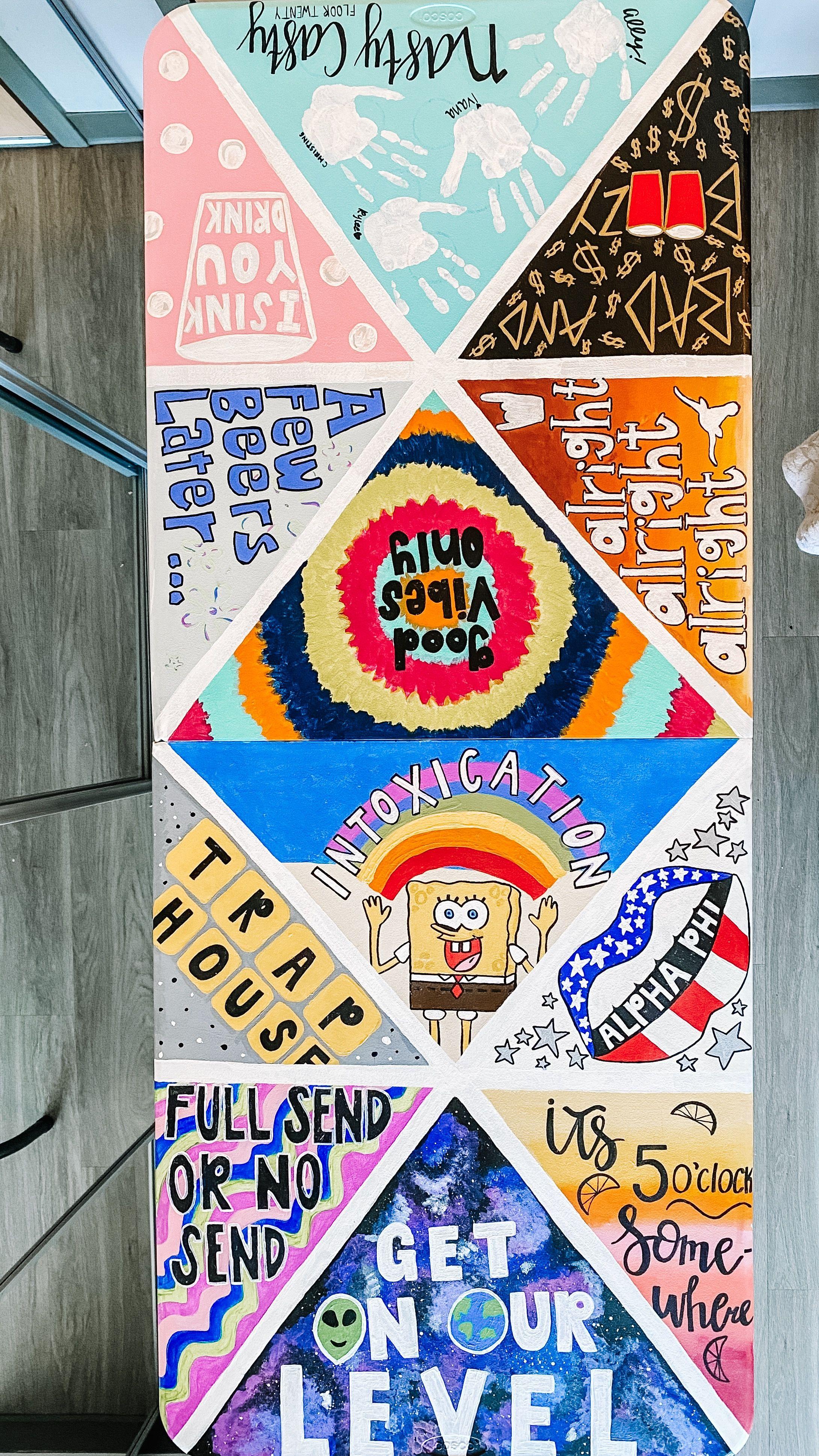 Painted beer pong table | Diy beer pong table, Beer pong ...