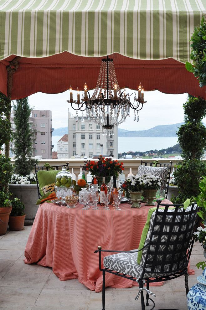 janet paik outdoor chandelier terrace decor canopy how to ideas