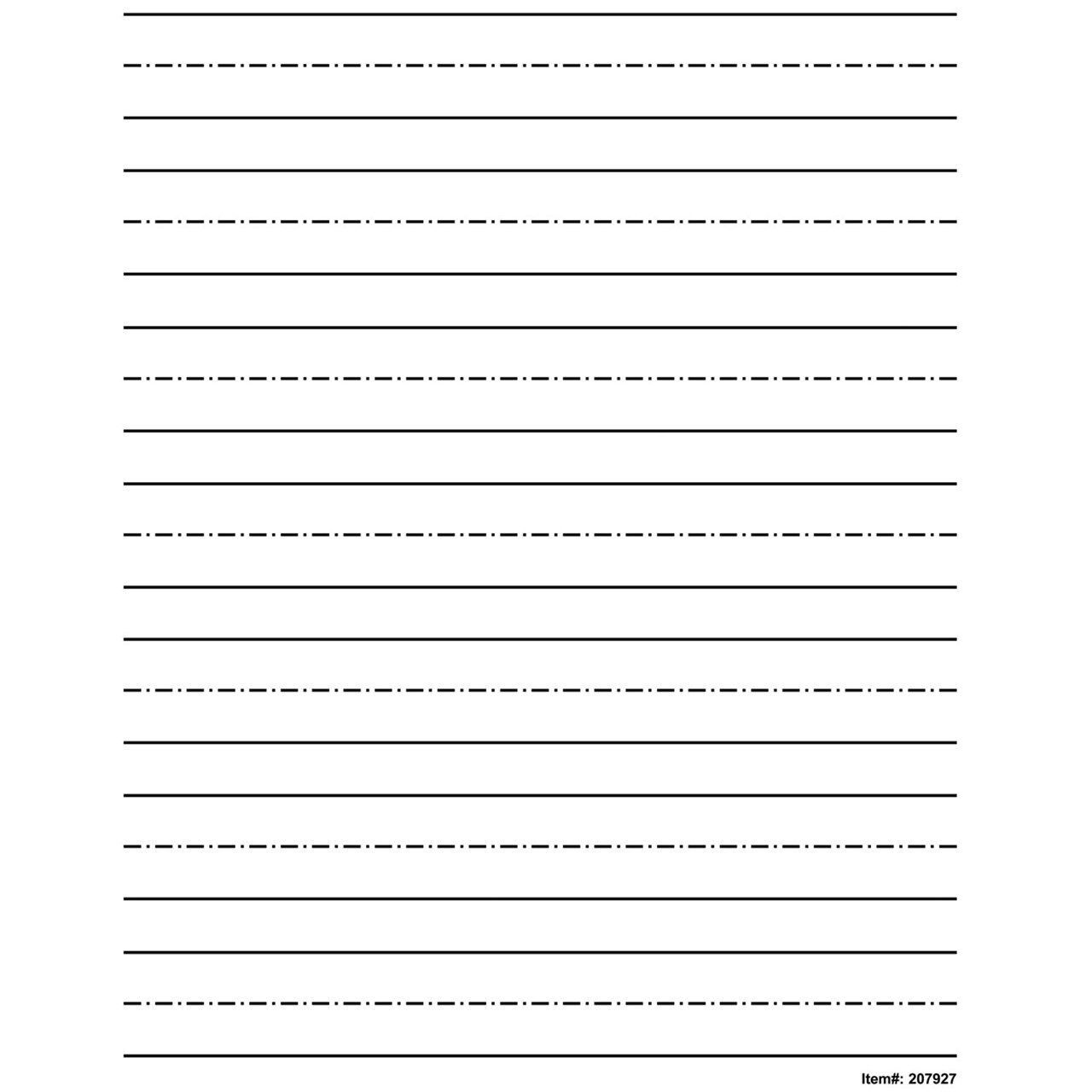 Top 1 Kindergarten Writing Paper With Lines For Abc Kids