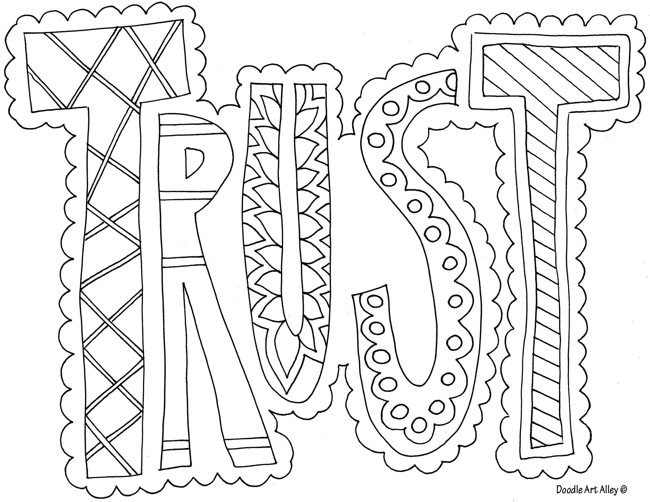 Trust Coloring Page Free