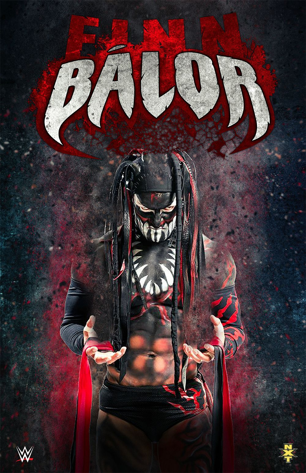 Made A Finn Balor Poster Wrestling Wwe Wwe Wallpapers Wwe