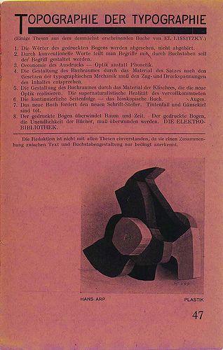 el lissitzky typography manifesto