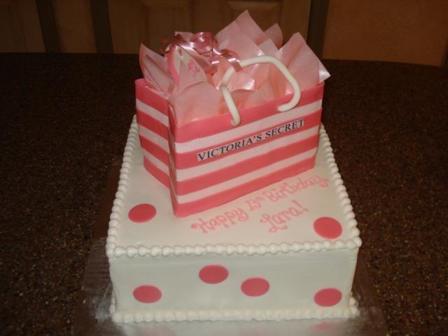 Astonishing Victoria Secrets Cake By Barb The Cake Lady Marietta Ga With Personalised Birthday Cards Arneslily Jamesorg