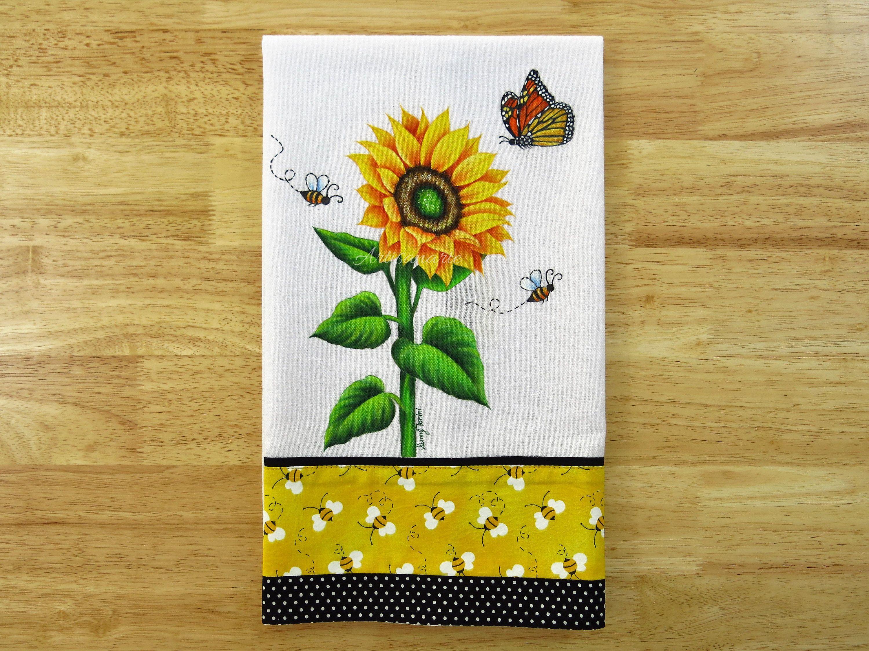 Sunflower Kitchen Towel Sunflower Decor Decorative Tea Sunflower Kitchen Decor Decorative Hand Towels Decorative Towels