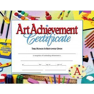 Art Achievement Certificate 30 Pack Downloadable Templates