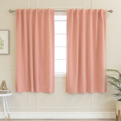 Sweetwater Solid Blackout Thermal Rod Pocket Double Curtains
