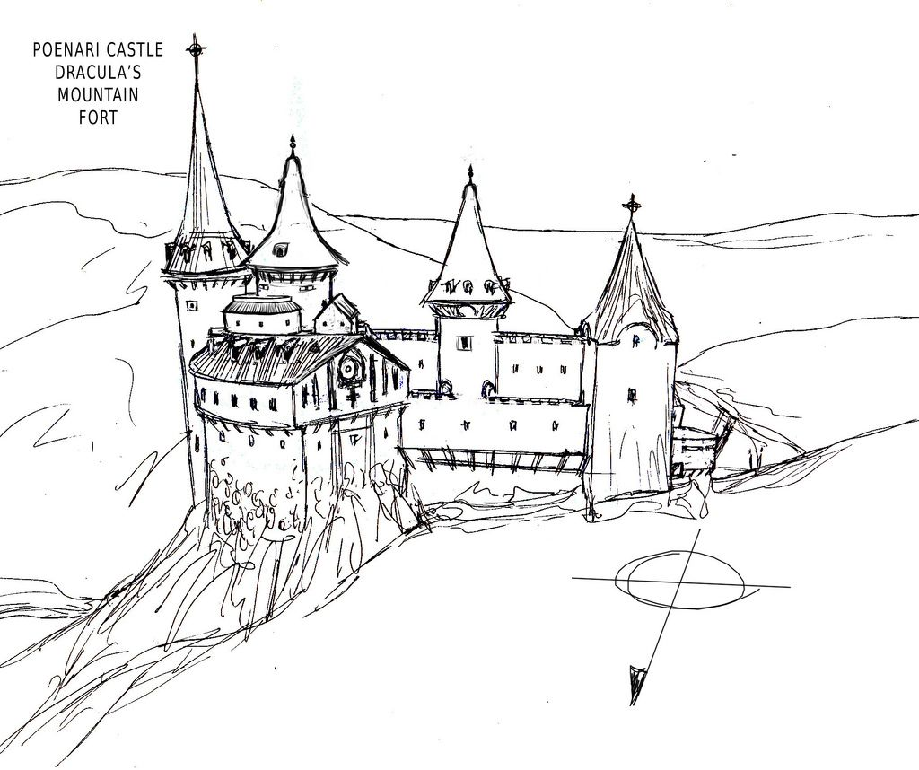 Poenari Castle sketch riv01 Dracula s Country