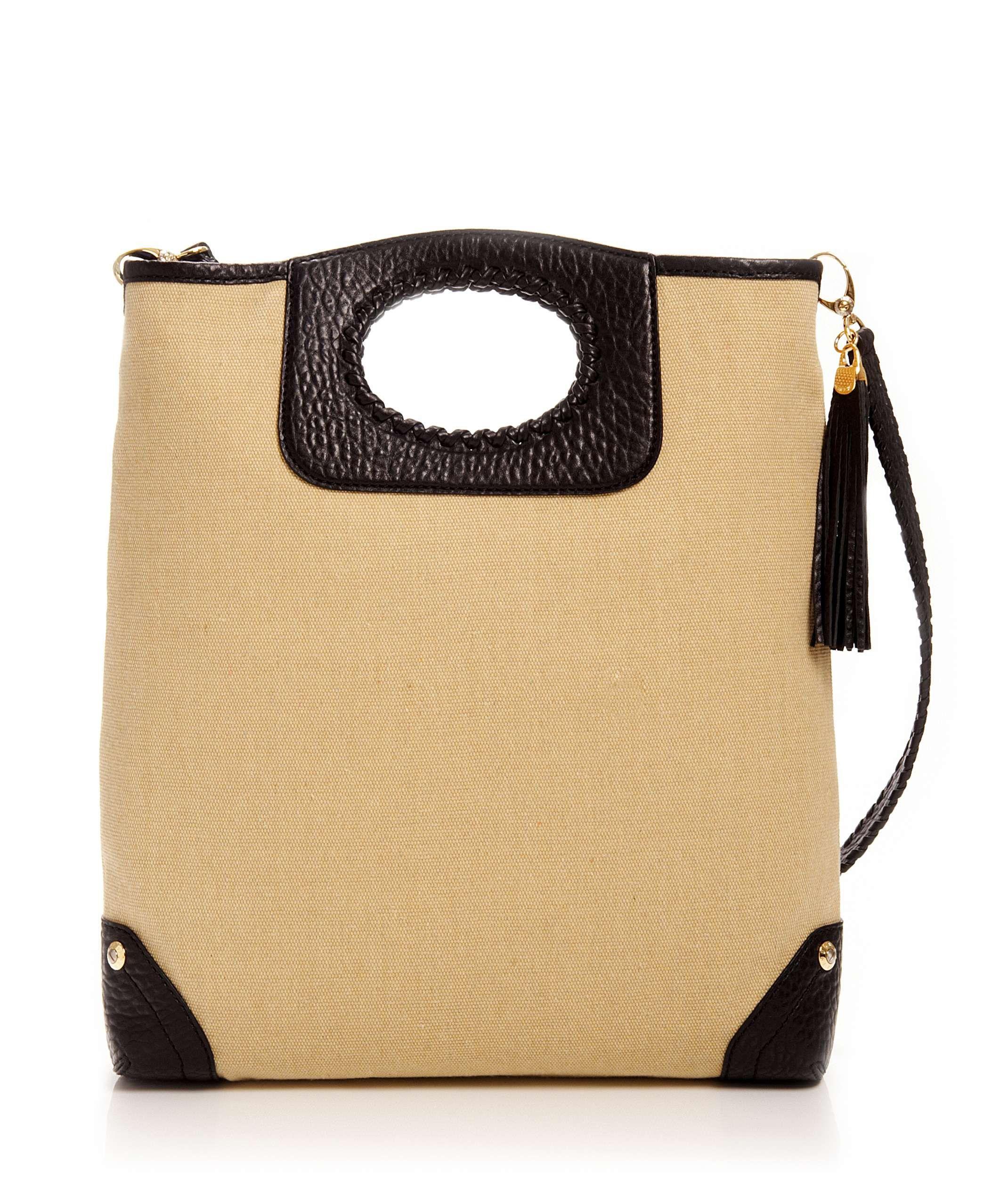 1c366b60c2d Cream Canvas Magazine Tote - Designer Handbag Totes - Designer Tote Bags
