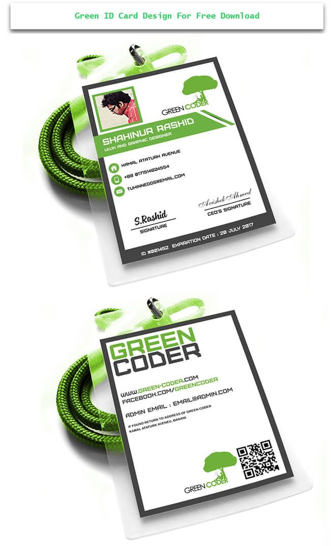green id card design Design Desk Pinterest Creative - id card