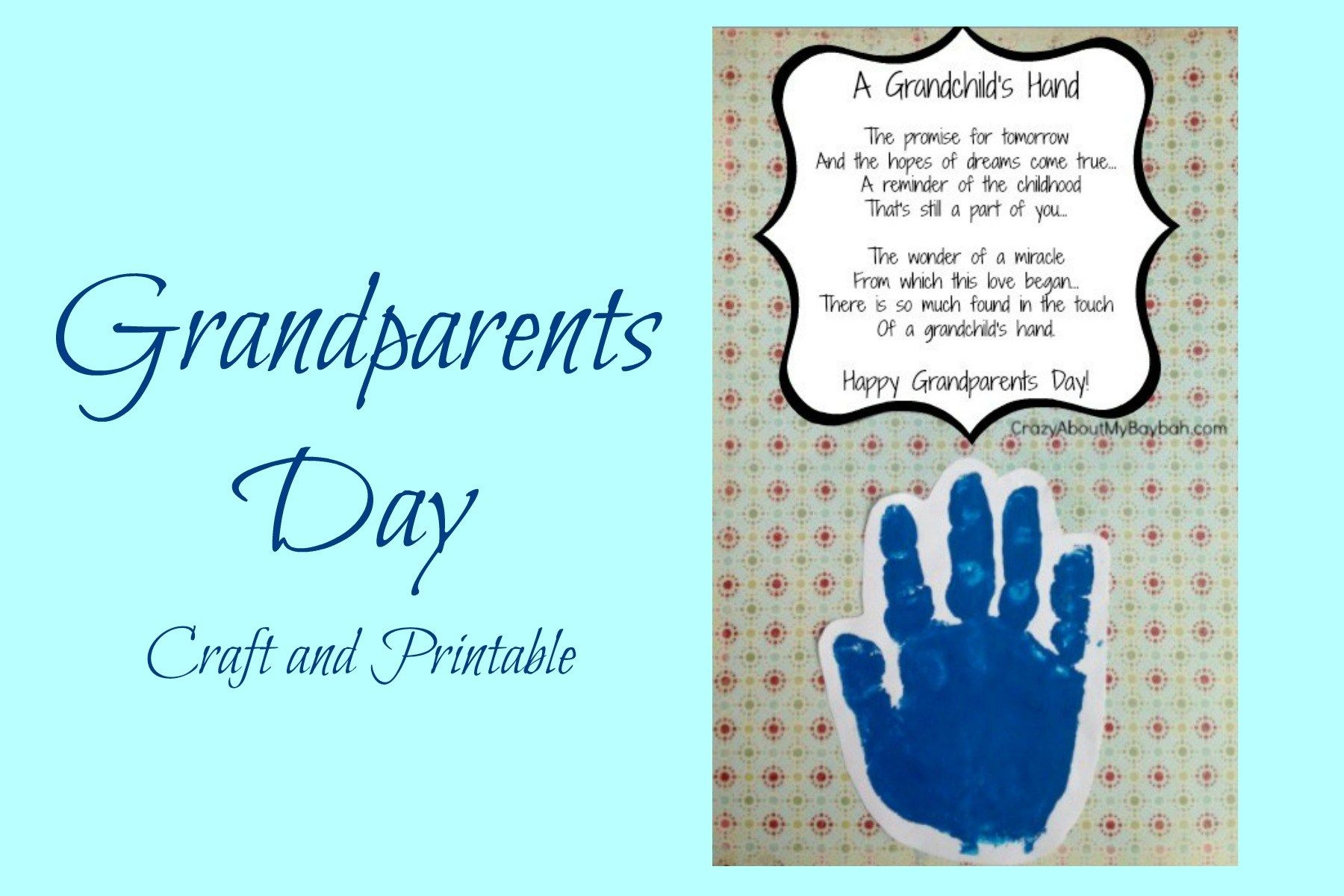 This is a super cute and quick and easy Grandparents day crafts for kids! #grandparentsdaycrafts