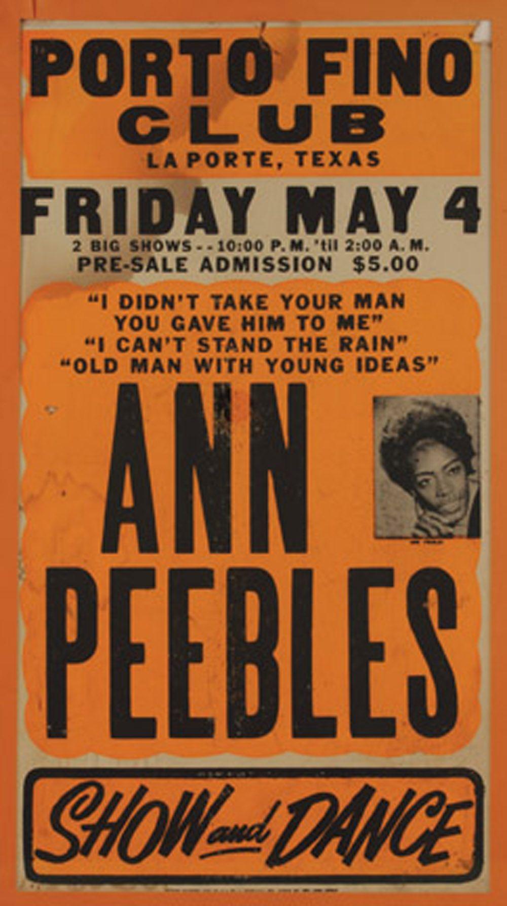 Ann Peebles | Concert posters, Music concert posters, Vintage music posters