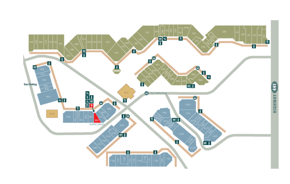 Tanger Outlet Pigeon Forge Map Tanger Outlets | Sevierville, Tennessee | Map   From Store 240 To