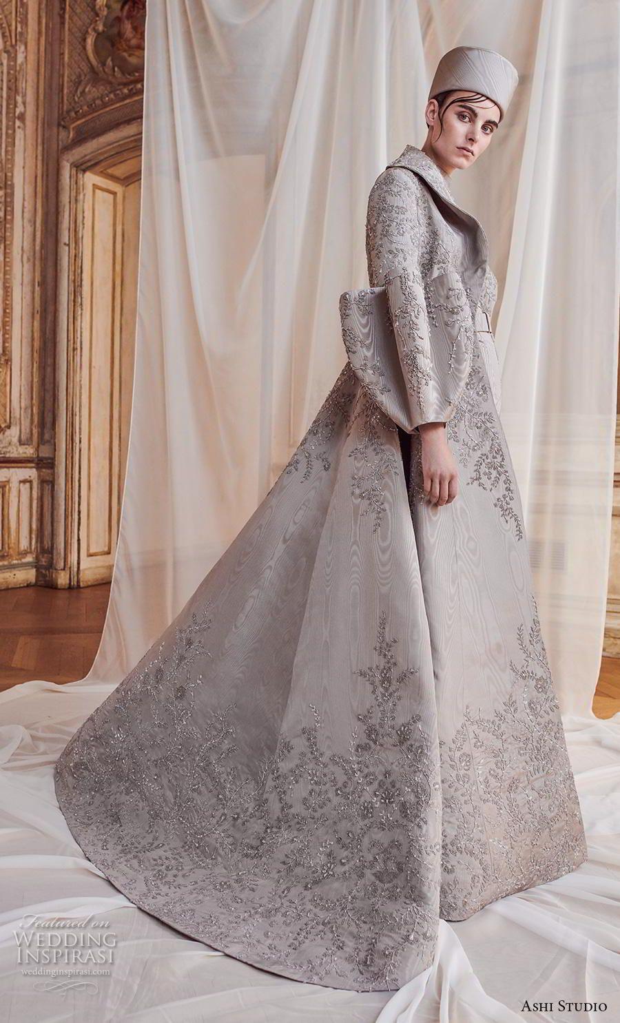 afebbf0b160 ashi studio fall winter 2019 bridal modern glamorous grey jacket outfit --  Ashi Studio Fall Winter 2018-2019 Couture Collection