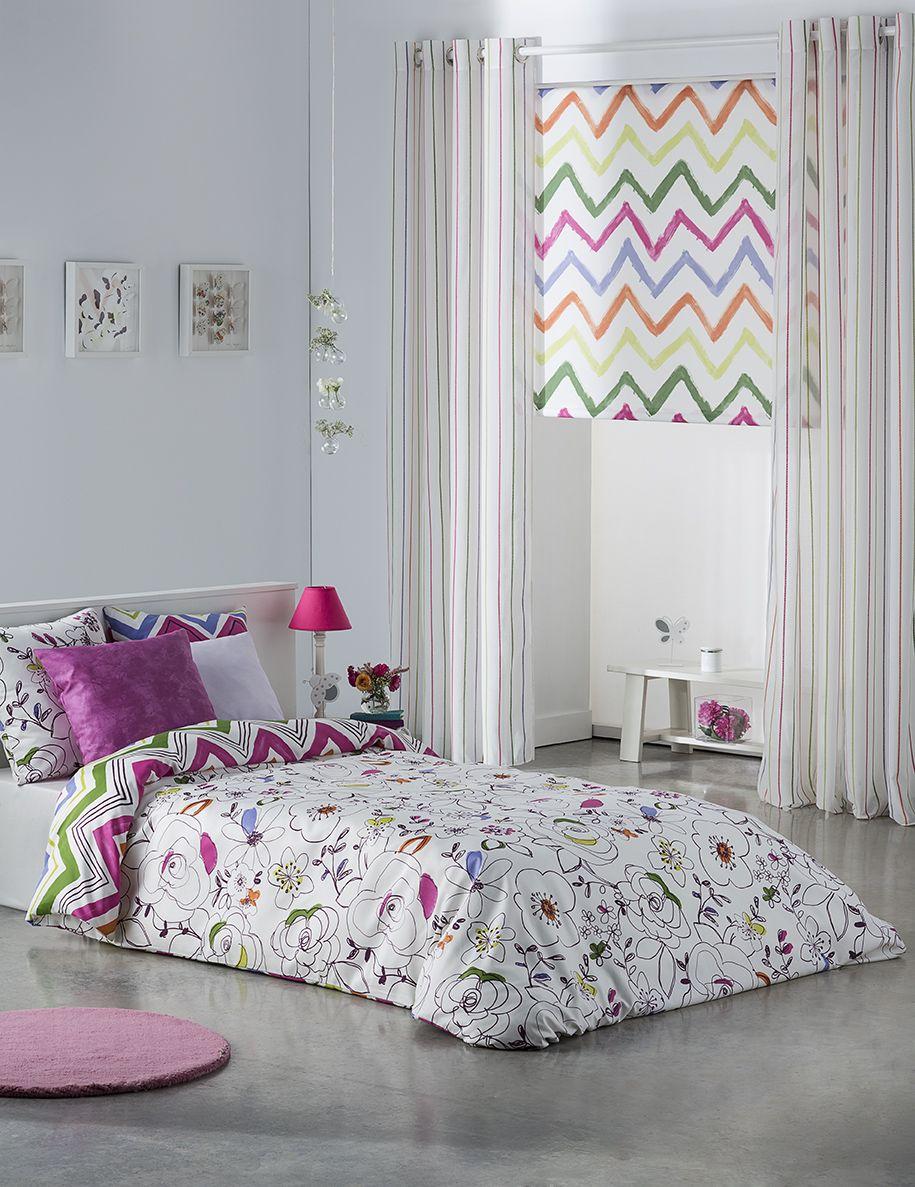 Tejidos de la colecci n glamour de scenes by vanico for Cortinas habitacion juvenil