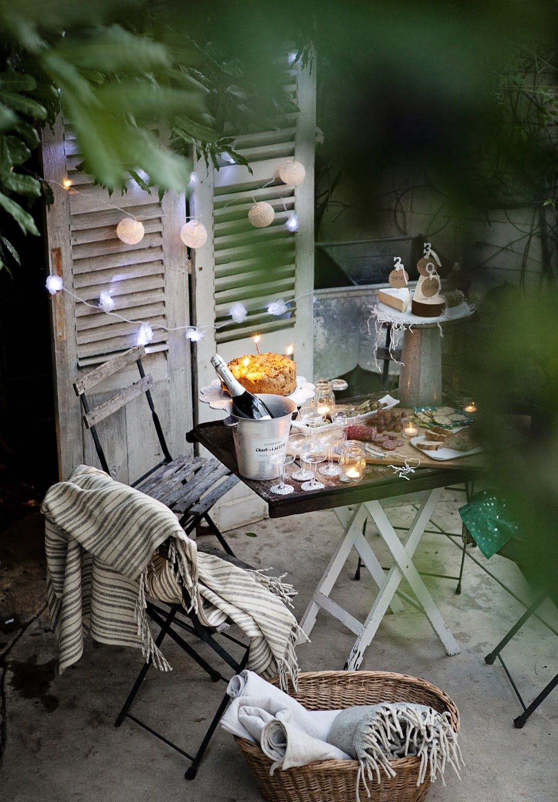 Add a little twinkle with miniature lanterns (pictured here ...
