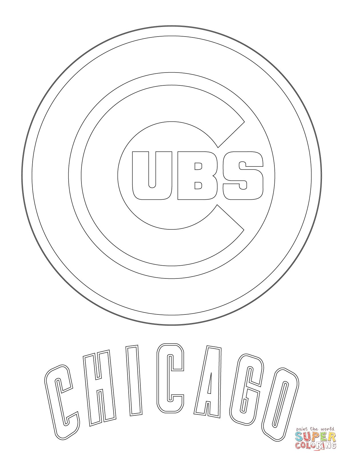 chicago cubs logo super coloring sports pinterest chicago