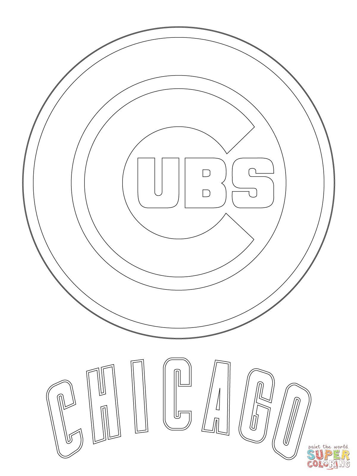 Chicago Cubs Logo Super Coloring Baseball Coloring Pages Coloring Pages Chicago Cubs