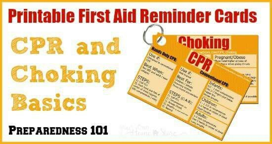 graphic regarding First Aid Cards Printable called Printable To start with Help Playing cards Fitness Choking very first assist