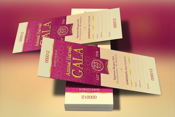 Church Gala Ticket Template Ticket template and Print templates - banquet ticket template