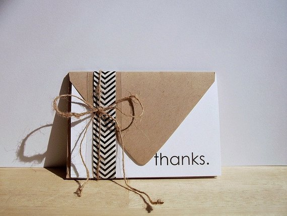 Thank You Notes Modern Thank You Card Set Simple Thanks