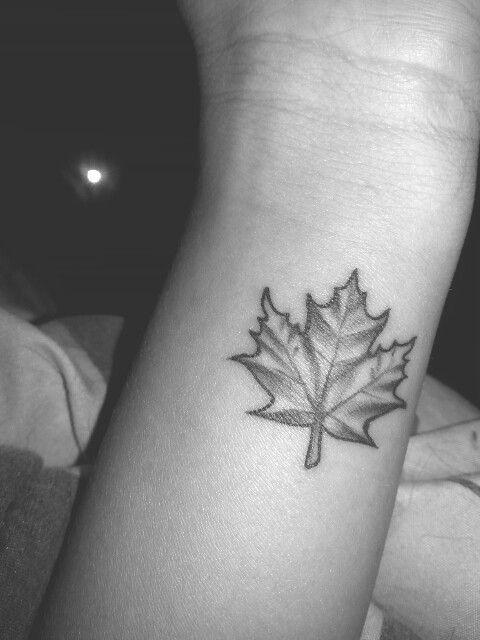Small Canada Tattoo: Small Maple Leaf Tattoo On Wrist