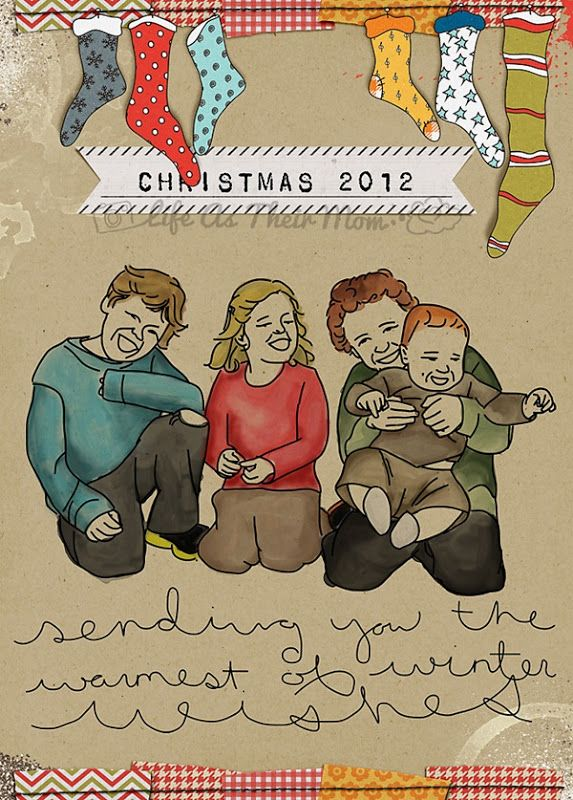 christmas card  life as their mom  christmas cards