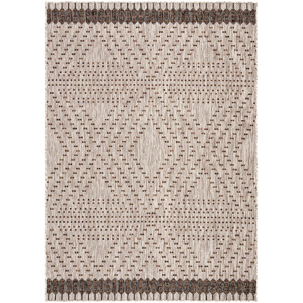 Jaipur Decora By Nikki Chu Indoor/Outdoor Rug - Dove/Cocoa Brown – Meadow Blu