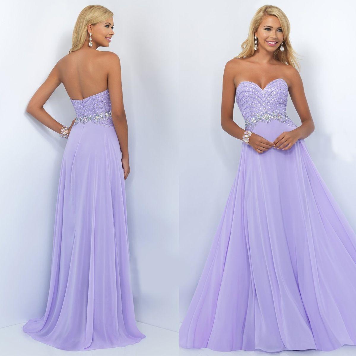 Long Strapless Sweetheart Chiffon Prom Dress By Blush Light Purple Prom Dress Purple Prom Dress Chiffon Prom Dress [ 1200 x 1200 Pixel ]