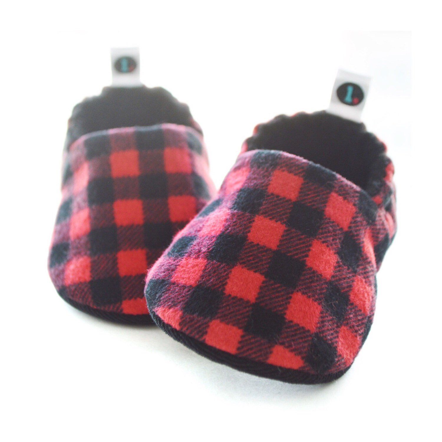 15551762e979d Buffalo Plaid Flannel Baby Shoes: Gender neutral soft sole baby ...