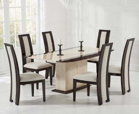 Shop The Assisi Cream Pedestal Marble Dining Table With Verbier Chairs At Oak Furniture Superstore Quick Delivery APR Available Buy Today