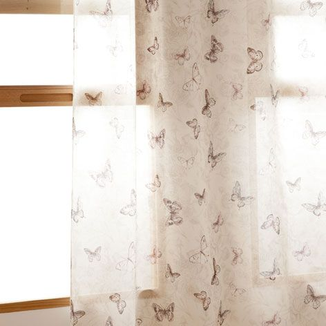 Cortina lino mariposas cortinas decoraci n zara home for Cortinas bebe zara home