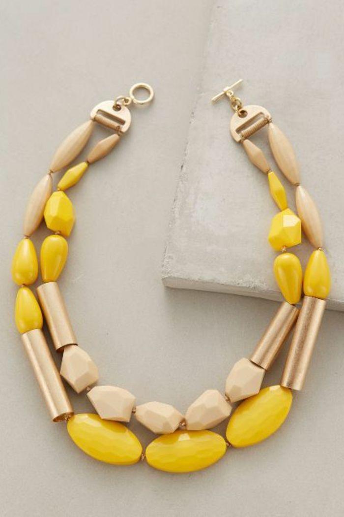 gros collier perle fantaisie
