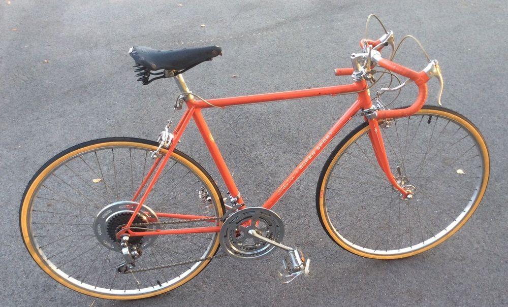 1972 Schwinn Super Sport Bicycle Mens Bike Orange Handmade