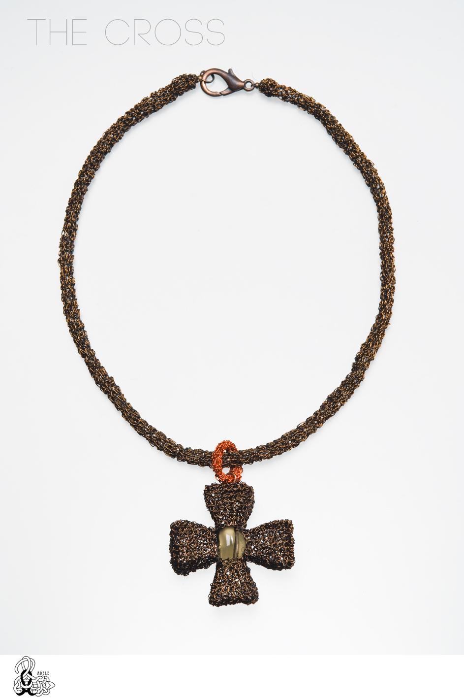 The Cross - hand made! Materials: Jewelry Copper Wire, Smoky Quartz ...
