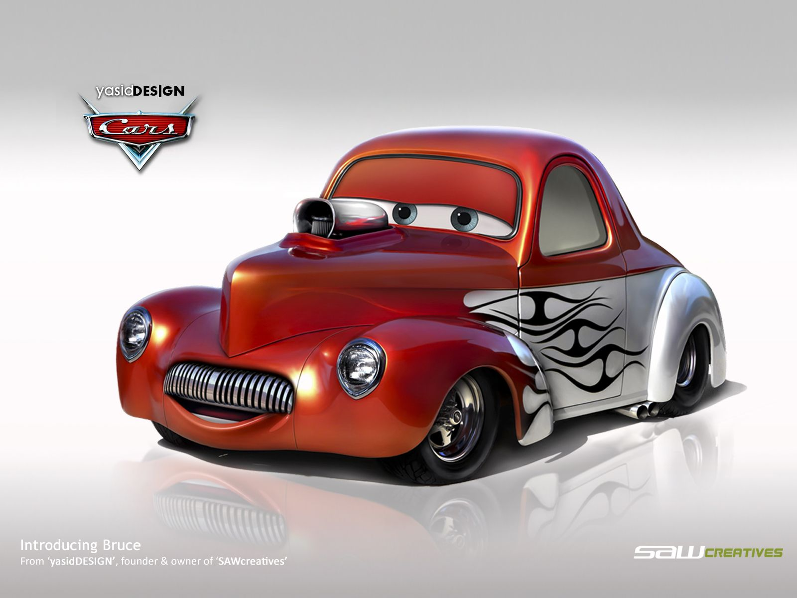 Disney cars bruce willys 1941 by yasiddesign on - Juguetes disney cars ...