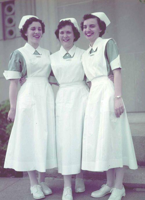 fee73569a76 Student nurses, 1950s. #vintage #nurses #uniforms | Bernice/Nurse in ...