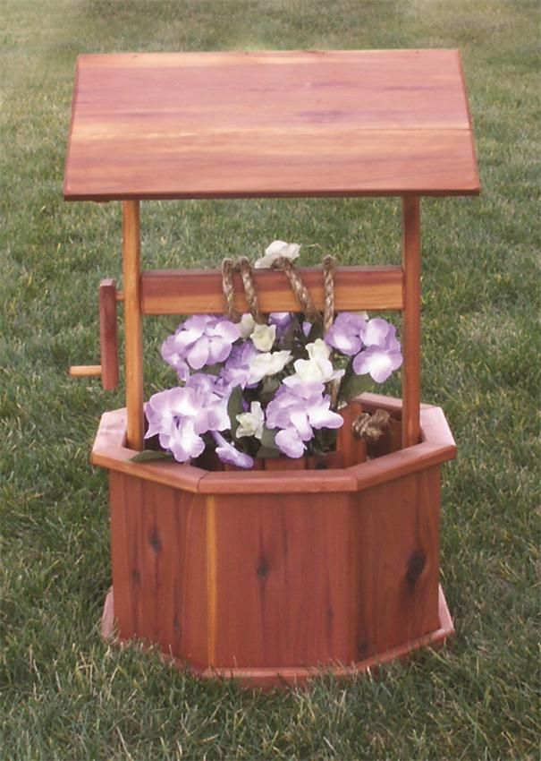Small Amish Made Wishing Well Yellow Pine Or Red Cedar Amish