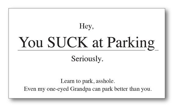 You suck at parking business cards 35 x 2 pack by guajoloteprints you suck at parking business cards 35 x 2 pack by guajoloteprints 325 colourmoves