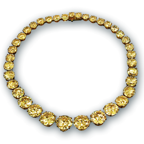 Jacob &Co Yellow Diamond Riviera Necklace