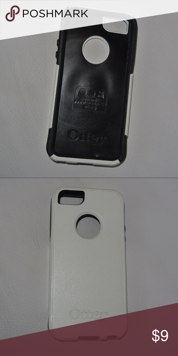Otterbox IPhone 5 Case White and Black iPhone 5 case barely used with slight staining OtterBox Accessories Phone Cases